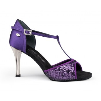 Purple Ballroom Dance Shoe