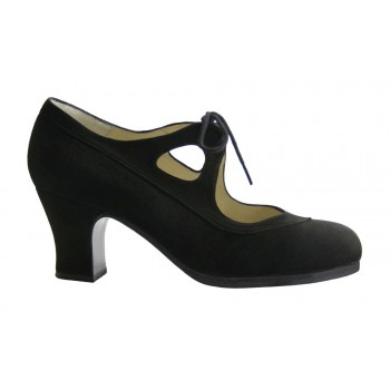 Professional Flamenco Dance Shoe Black Suede