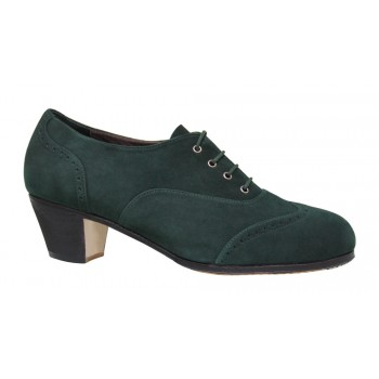 Professional Shoe Green Suede