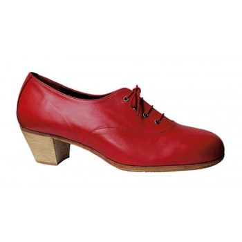 Red Leather Flamenco Professional Shoe