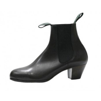 Black Leather Flamenco Boot 41/46