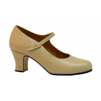 Semi Professional Flamenco Dance Shoe Beige