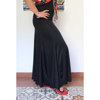 Black Flamenco Skirt by nesgas