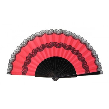Pericón wooden hand-held fan (31 cm)