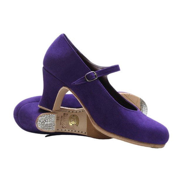 Professional purple flamenco dance shoe