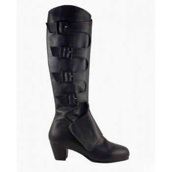 Warrior Model Boots in Black Leather