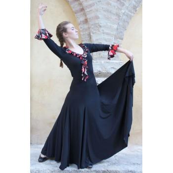 Falda Flamenco Negra con Mucho Vuelo