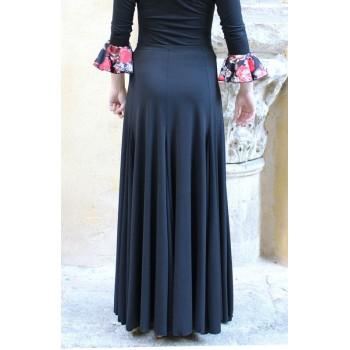 Black Flamenco Skirt with Many Flight