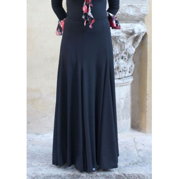 Black Flamenco Skirt with Many Flight
