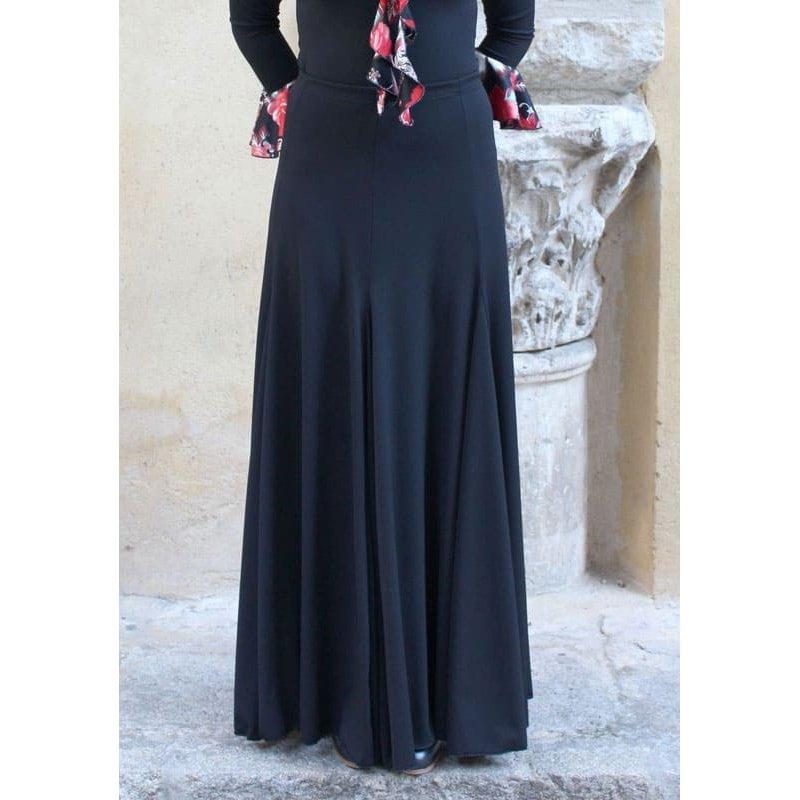 887053f3ce Falda Flamenco Negra con Mucho Vuelo - Zapatos de Baile Flamenco