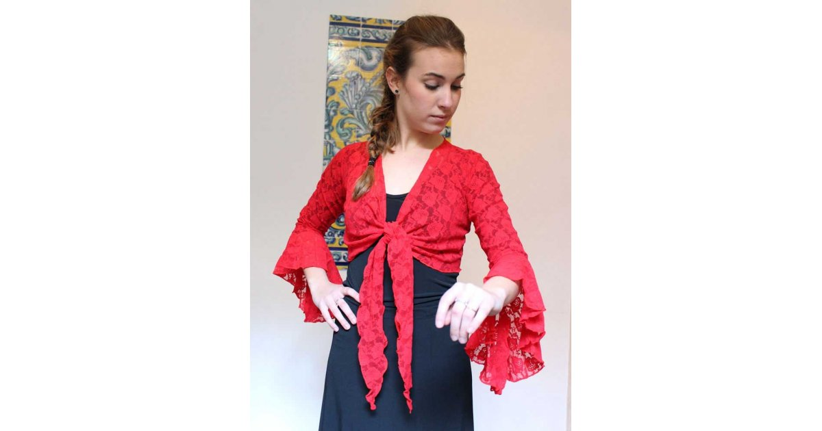 Cardigan Red Lace Lady