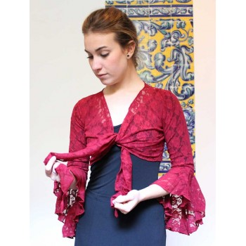 Garnet Flamenco Lace Lady Cardigan
