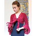 Garnet Flamenco Lace Lady Cardigan
