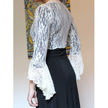 Flamenco Cardigan Lace Ivory Lady
