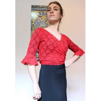 Flamenco Red Lace Lady Cardigan