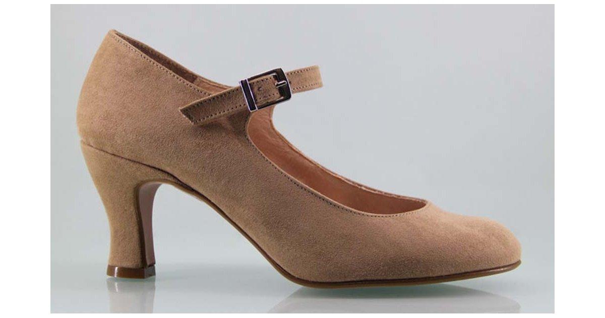 Zapato de Flamenca Taupe