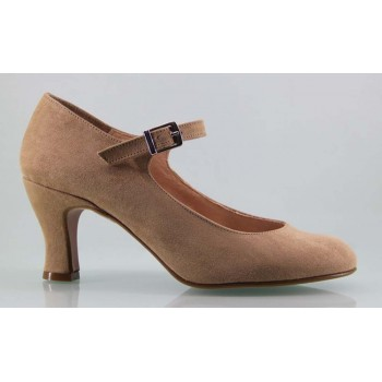 Flamenco Shoe Synthetic Suede Taupe
