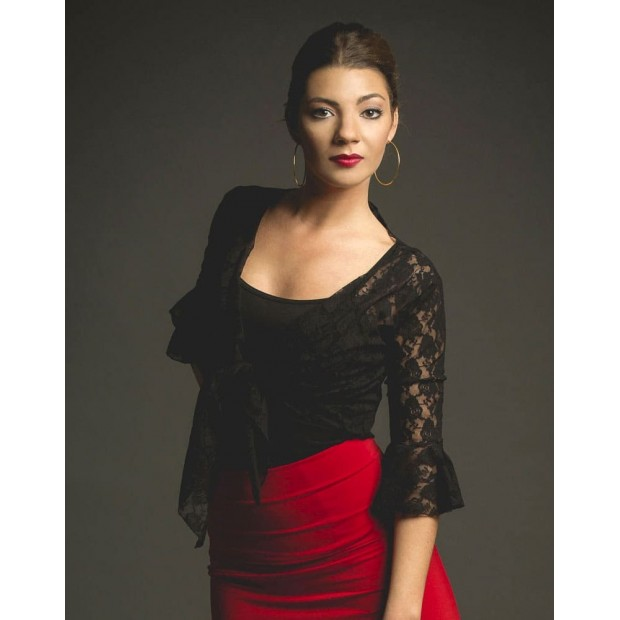 Lady Black Lace Flamenco Cardigan