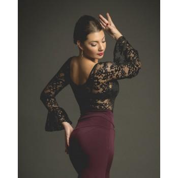 Justaucorps de flamenco pour femme