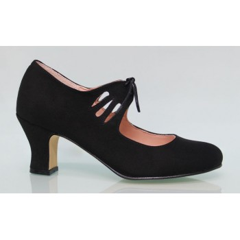 Flamenca Laces Black Synthetic Suede