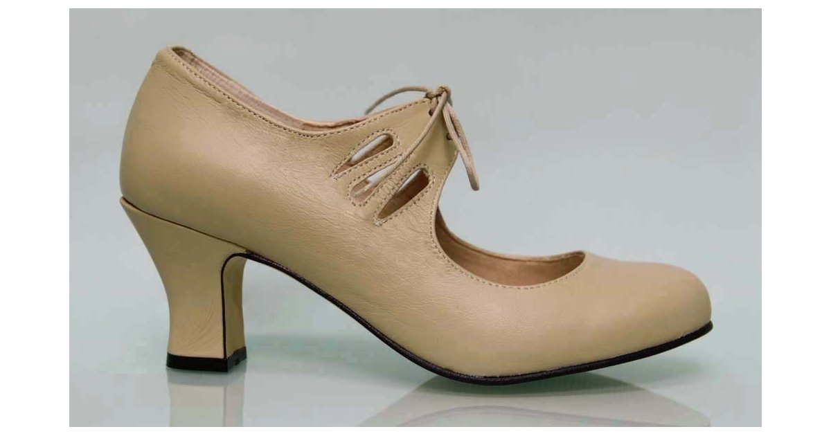 Flamenca Laces Camel Leather