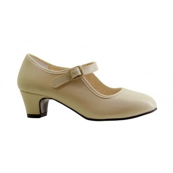 Flamenco Shoe Beige Leatherette