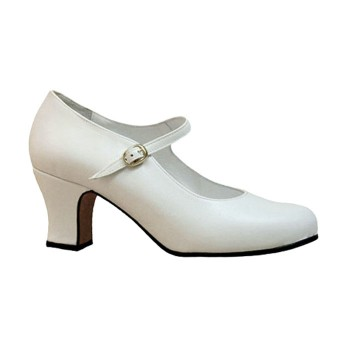 Semi Professional Flamenco Dance Shoe White