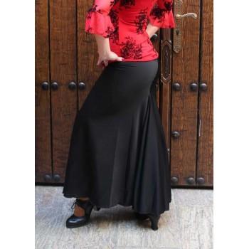 Falda Flamenco Ceñida Negra
