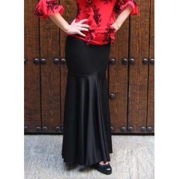 Falda Flamenco Negra Ceñida Capa Quilla
