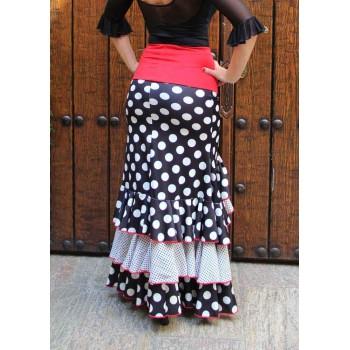 Polka Dot Black Skirt