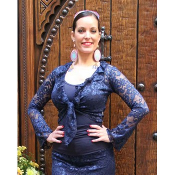 Navy Blue Flamenco Cardigan Blonda