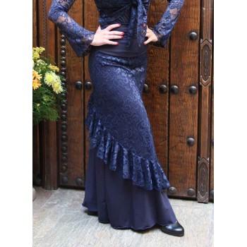 Jupe Flamenco Alboreá bleu