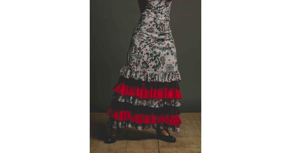 Lozoya Flamenco Print and Ruffled Skirt