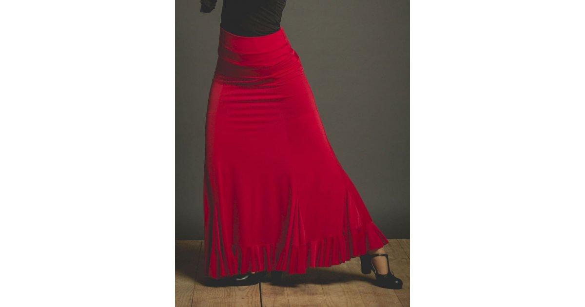 Red Velilla Flamenco Skirt with Sash