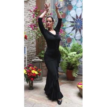 Jupe flamenco noire Valoria