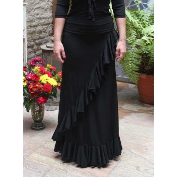 Valoria Black Flamenco Skirt