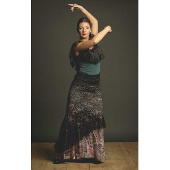 Black Blonda Flamenco Skirt