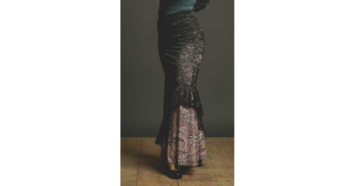 Jupe flamenco noire Blonda