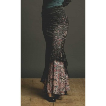 Black Blonda Flamenco Skirt