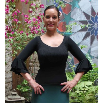 Flamenco Top Elda Black