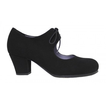 Professional black flamenco dance shoe