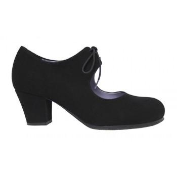 Professional black flamenco dance shoe