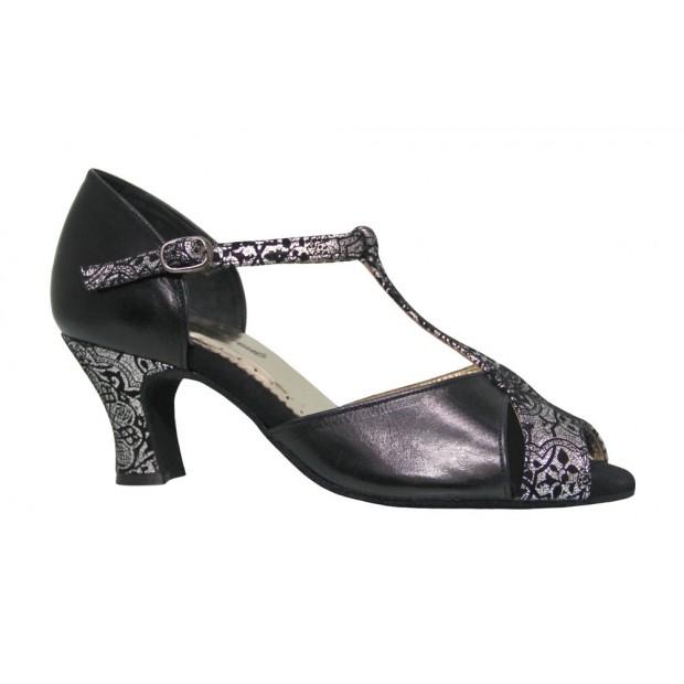 Black and Fantasy Combined Ballroom Dance Shoe