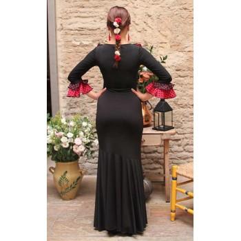 Flamenco Black Flared Skirt