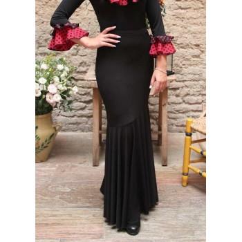 Jupe évasée flamenco noire