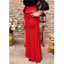 Red Adjusted Flamenco Skirt