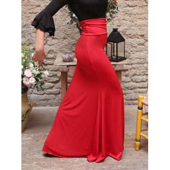 Falda Flamenco Roja Entallada
