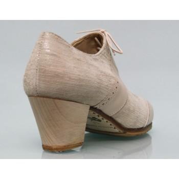 Chaussure professionnelle à la peau fantaisie et cuir d'os à lacets