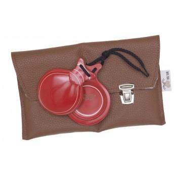 Castañuela Capricho Boîte en verre rouge normale