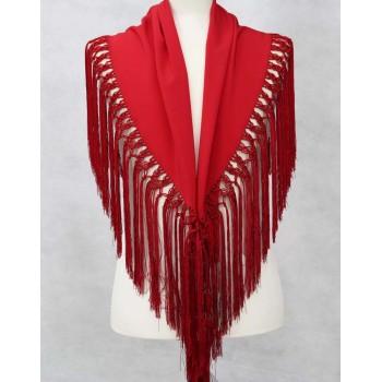 Red shawl 127 cm.